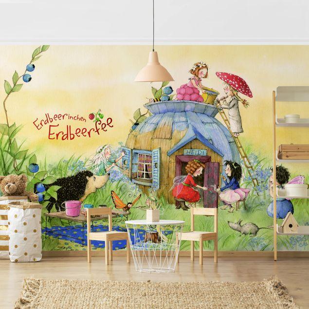 Produktfoto Selbstklebende Tapete Kinderzimmer - Erdbeerinchen Erdbeerfee - Bei Heidi - Fototapete Querformat