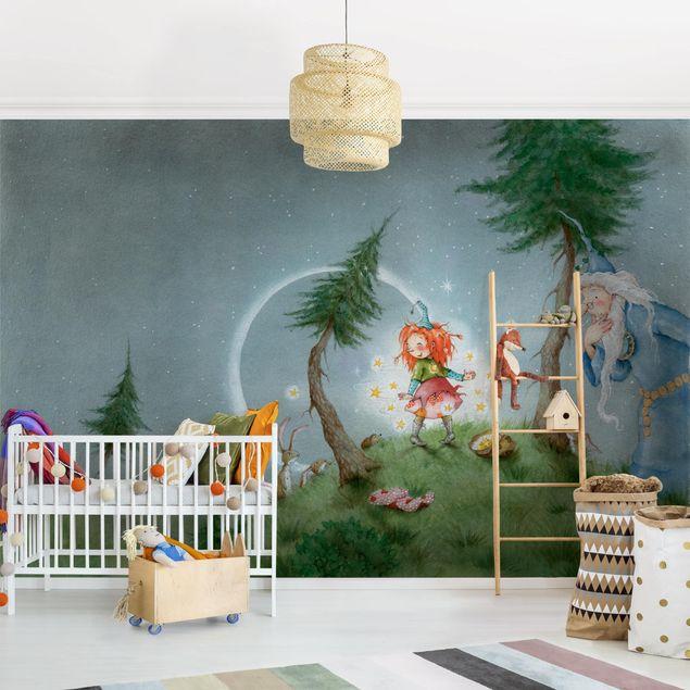 Produktfoto Selbstklebende Tapete Kinderzimmer - Frida lässt die Sterne frei - Fototapete Querformat