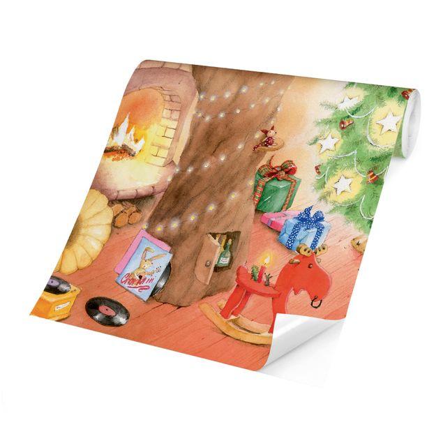 Produktfoto Selbstklebende Tapete Kinderzimmer - Das allerschönste Weihnachtsgeschenk - Fototapete Querformat