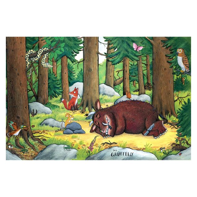 Produktfoto Selbstklebende Tapete Kinderzimmer - Grüffelo - Nickerchen im Wald - Fototapete Querformat
