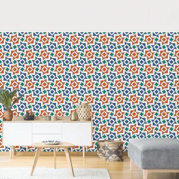 Produktfoto Tapete selbstklebend - Alhambra Mosaik mit Fliesenoptik - Fototapete Querformat
