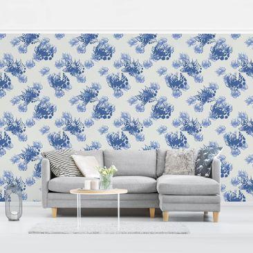 Produktfoto Tapete selbstklebend - Floral Print - Fototapete Querformat