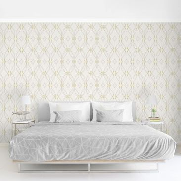 Product picture Photo Wall Mural - Wave Pulse Beige -...