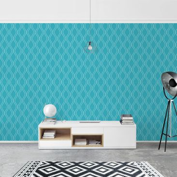 Product picture Photo Wall Mural - Wave Retro Style...