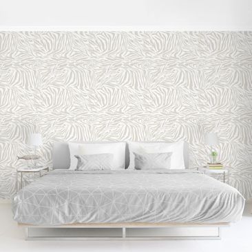 Product picture Photo Wall Mural - Zebra Design Light...
