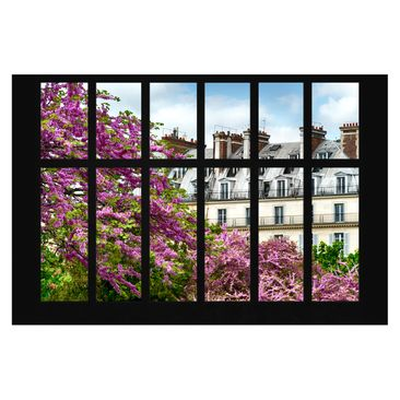 Product picture Photo Wall Mural - Window Spring Paris -...