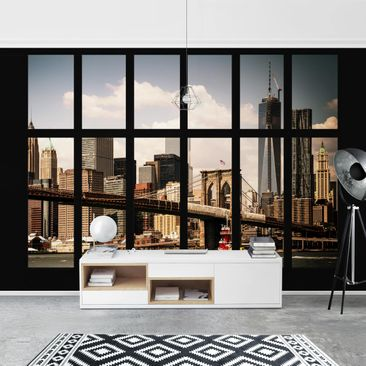 Product picture Photo Wall Mural - Window New York...