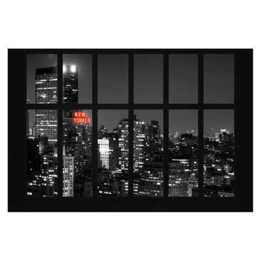 Product picture Photo Wall Mural - Window New York Night...