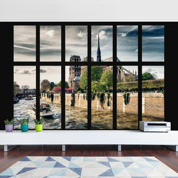 Product picture Photo Wall Mural - Window Notre Dame...