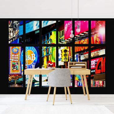 Product picture Photo Wall Mural - Window Times Square...