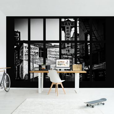 Product picture Photo Wall Mural - Window View American...