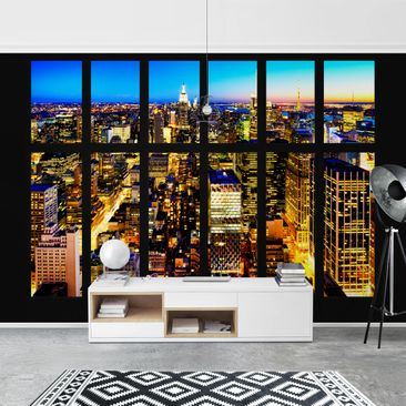 Product picture Photo Wall Mural - Window View Manhattan...