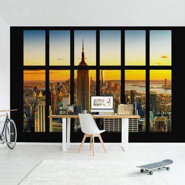 Produktfoto Photo Wall Mural - Window View Manhattan...