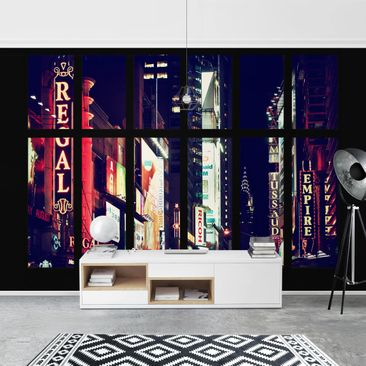 Product picture Photo Wall Mural - Window View Times...