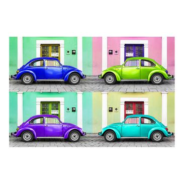 Product picture Photo Wall Mural - Colored Beetles -...