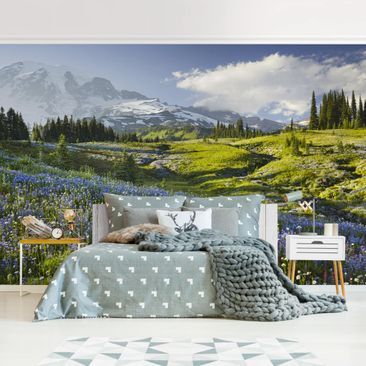 Product picture Photo Wall Mural - Mountain Meadow With...