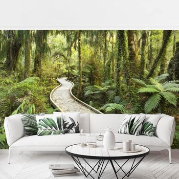Product picture Photo Wall Mural - Path In The Jungle -...