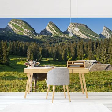 Product picture Photo Wall Mural - Swiss Alpine Meadow...