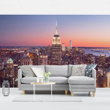 Product picture Photo Wall Mural - Sunset Manhattan New...