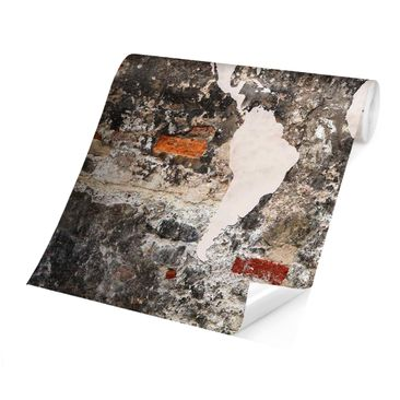 Product picture Photo Wall Mural - Old Wall World Map -...