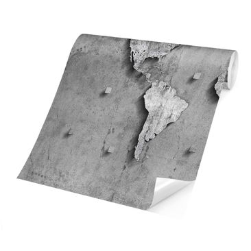 Product picture Photo Wall Mural - Concrete World Map -...
