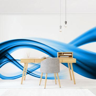 Product picture Photo Wall Mural - Blue Element -...