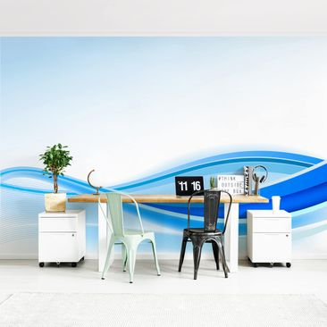 Product picture Photo Wall Mural - Blue Waving...