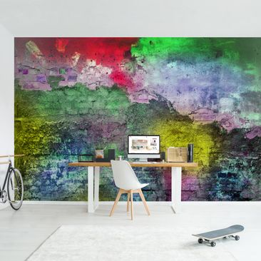 Product picture Photo Wall Mural - Colorful Sprayed Old...