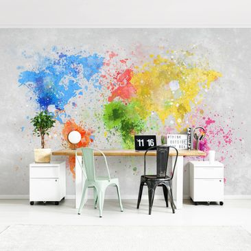 Product picture Photo Wall Mural - Colorful Splashes...