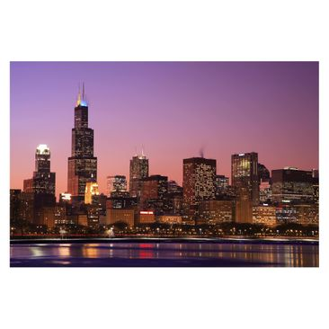 Product picture Photo Wall Mural - Chicago Skyline -...