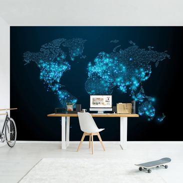 Product picture Photo Wall Mural - Connected World -...