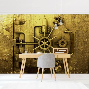 Product picture Photo Wall Mural - Golden Safe -...