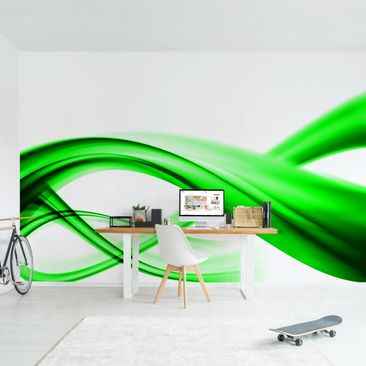 Produktfoto Photo Wall Mural - Green Element -...