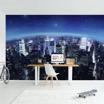 Product picture Photo Wall Mural - Illuminated New York...