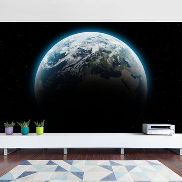 Product picture Photo Wall Mural - Illuminated Planet...