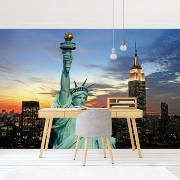Product picture Photo Wall Mural - New York At Night -...