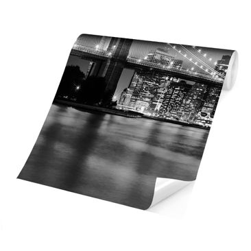 Product picture Photo Wall Mural - Nighttime Manhattan...