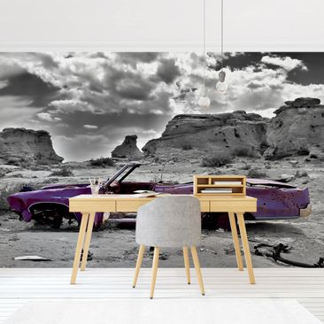 Product picture Photo Wall Mural - Pink Cadillac -...
