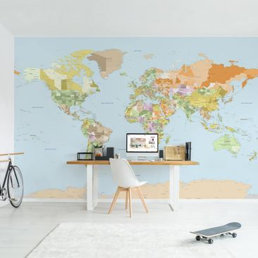 Product picture Photo Wall Mural - Political World Map -...
