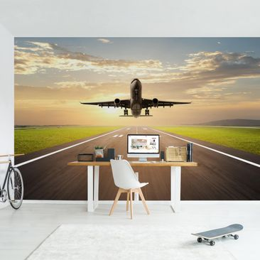 Product picture Photo Wall Mural - Starting Airplane -...