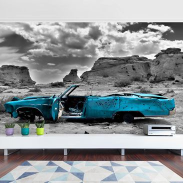 Product picture Photo Wall Mural - Turqouise Cadillac -...