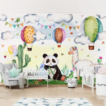 Product picture Photo Wall Mural - Panda And Lama...