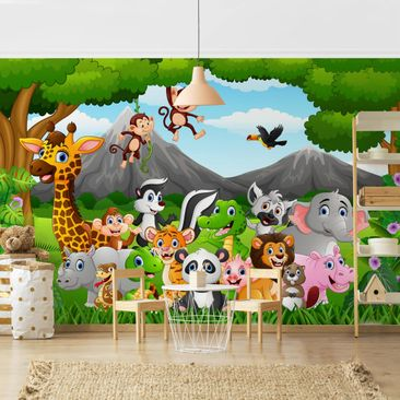 Product picture Photo Wall Mural - Wild Jungle Animals -...