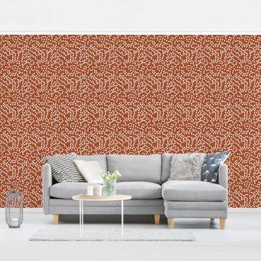 Produktfoto Tapete selbstklebend - Aborigine Punktmuster Braun - Fototapete Querformat