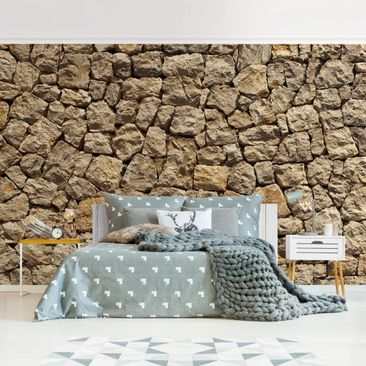 Product picture Photo Wall Mural - Old Wall Of Paving...