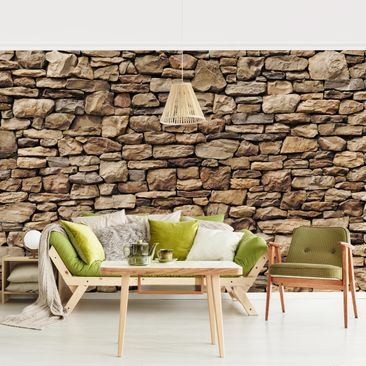Product picture Photo Wall Mural - American Stone Wall -...