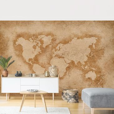 Product picture Photo Wall Mural - Antique World Map -...