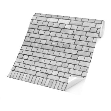 Product picture Photo Wall Mural - Brick Wallpaper White...