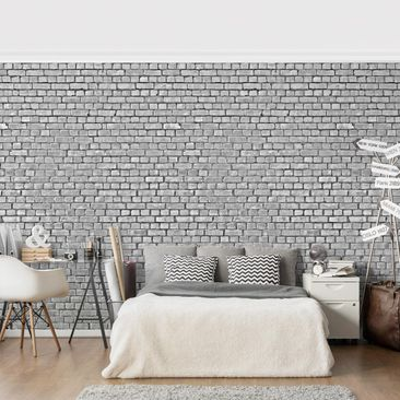 Product picture Photo Wall Mural - Brick Tile Wallpaper...
