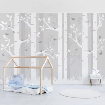 Product picture Photo Wall Mural - Birch Forest With...
